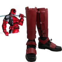Wholesale-Deadpool Cosplay Shoes adulto Uomini Halloween Carnival Party Boots Cosplay Accessori Custom Made