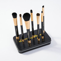 Wholesale Tool Box Factory Direct - New Arrival Top Quality Dream Maker Brushes Black Gold Magnet Makeup Brush Sets 7PCS with Metal Box Packing Beauty Tool Factory Direct