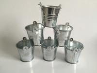 Wholesale mini tin flower pots for sale - Group buy Metal Pails Mini Garden Silver Cute Succulents planter Tin Planter Mini Galvanized Buckets for small plant