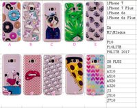 Wholesale Cartoon Blue Butterfly - Unicorn Butterfly Cat Lip Soft TPU Case For Huawei P10, P10 Lite , P8 lite 2017 Silicone Pizza Donuts Cute Cartoon Heart Back Cover Skin