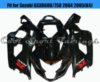 Wholesale Cheap Motorcycle Fairings Kits - Cool Black Fairing Kit Fit for Suzuki GSXR600 750 2004 2005 K4 Plastic for 04 GSXR600 Bodywork Bodyframe for Motorcycle Cheap Fairing