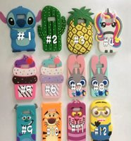 Wholesale Cover Silicon For Mobile - 3D Cartoon Silicon minion Case Cover Mobile Phones for Apple iPhone 7 8 6S Plus 5s SE Samsung Galaxy S8 S6 S7 EDG