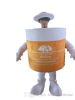 Wholesale Box Mascot Costumes - sx0734 Light and easy to wear An orange moisturizing cream box mascot costume for adult to wear