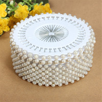 Wholesale diy craft pins resale online - Hot Sale mm White Round Head Dressmaking Pearl Decorating Sewing Pin Craft For Home Garden DIY Crafts Tool Accessories