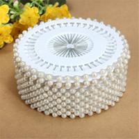 perlas para coser al por mayor-Venta caliente 35mm 480 Unids Blanco Cabeza Redonda Confección de Perlas de Costura Pin Craft Para El Hogar Jardín DIY Artesanía Accesorios de Herramientas