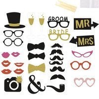 30 pc / set Wedding Photo Booth puntelli su un bastone 2016 il nuovo DIY Kit decorazione della festa nuziale Photobooth dress-up Accessori
