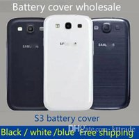 Wholesale Housing S3 White - For Samsung Galaxy S3 I9300 OEM Back Chassis Housing Bezel For GT-I9300 Battery Door Cover Free Shipping by DHL