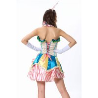 Wholesale Indian Women Sexy Hot - Hot circus clown Halloween sexy cosplay party costumes