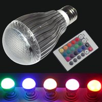 10W E14 E27 B22 GU10 RGB lâmpadas LED Globe Bulb Color Changing Light Bulb + remoto 24key, memorizar e restaurar as configurações anteriores de cor