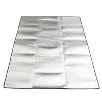 tapis de camping double achat en gros de-Gros-200x150 cm double face feuille d'aluminium résistant à l'humidité mat EVA pique-nique en plein air camping tapis Eco portable couverture d'exercice