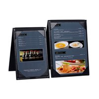 Wholesale Wholesale Advertising Menus - Wholesale-NEW Design Table Top Restaurant Menu Holder Restaurant Menu Folder Leather Menu Display Hotel Advertising High Quality
