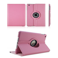 Wholesale Ipad Smart Cover Dhl - Magnetic 360 Rotating leather case Smart cover Stand For iPad air3 Air2 air 2 6 5 4 3 Mini 4 3 Retina DHL free PCC058
