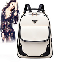Wholesale Korean Kids White Backpacks - Lowest price! High quality school backpacks for teenage girls leather children kids korean backpack women bagpack college style