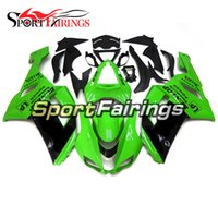 motocicleta carenagem corpo kit zx6r venda por atacado-Kit de Carenagem Completa Para Kawasaki ZX6R ZX-6R Ano 07 08 2007 - 2008 Sportbike ABS Kit de Carenagem de Motocicleta Bodywork Body Kit Verde Preto