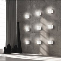 Wholesale Ceiling Lights Cube - New LED Sugar Ice Cube Wall Lamp White Glass Ceiling Light Background Light Bar Asile Ice Brick Lamp Backdrop Light Indoor Wall Light