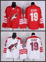 Wholesale Cheap Sport Patches - 2016 Wholesale Mens Arizona coyotes Jersey C Patch #19 Shane Doan jersey authentic Ice Hockey Phoenix Coyotes sports Jerseys cheap