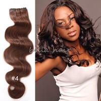 renkli atkı tüyü toptan satış-En çok satan 8A 3 adet / grup Perulu saç renkli İnsan saç atkı örgü Vücut dalga saç uzantıları DHL tarafından ücretsiz kargo