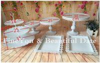 Wholesale White Bakeware - Express FreeShipping White wedding cake stand set 6 pieces cupcake stand barware decorating cooking cake tools bakeware set party dinnerware