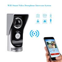 Wholesale Bell Door Motion Sensor - Wifi door bell video intercom 0.3M pixels CMOS door camera IR Night vision PIR Motion Sensor Rainproof video peephole doorbell