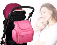 Wholesale Messenger Diaper Bag Wholesale - Hot Elegant Baby Diaper Backpacks Nappy Bags Multifunctional Changing Bags For Mommy Diaper Bag Top Quality Shipping Free