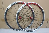 Wholesale Brake Campagnolo - red decal red hubs red nipples CAMPAGNOLO BORA ULTRA two 38mm clincher,700C road bike wheels,carbon wheel with aluminum alloy brake surface
