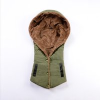 Wholesale Cheap Vests Color Fur - 2016 New Fashion Cheap Autumn Women Down Jacket Coat Vest Winter Outwear Cotton-padded Jacket Women Slim Solid Zipper Outerwear M-3XL FS0703