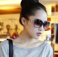 gafas de color tortuga al por mayor-Diseñador de la marca para mujer Gafas de sol de gran tamaño Vintage Tortoise Frame Lens Retro gafas de sol redondas para mujer Sombras Gafas de sol