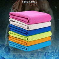 Wholesale Wholesalers For Baby Baths - High Quality Double Layer Ice Cooling Face Towels Icy Cold Chilling Towel Outdoor & Indoor Gym Yoga Activities Reusable For Sports 100pcs