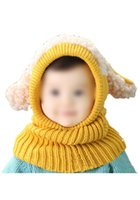 Wholesale KSFS Lovely Baby Girl Boy Knitted Crochet Winter Hats Puppy Dog Beanie Caps Yellow