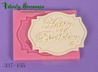 fırın kupası toptan satış-Sıcak Yeni Fondan Kek Doğum Günü Marka Kalıpları Set Silikon Kalıpları ekmek kek dekorasyon araçları Kek Dekorasyon Aracı Çikolata Kalıpları