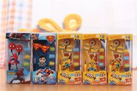 Wholesale Despicable Headphones - Headphone Headset Headphones 3D Cartoon Anime Despicable Me Minions Earbuds Earphone 3.5mm In-Ear Earphones for Apple iphone SAMSUNG Kids