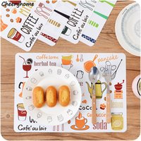 Atacado- Cheeryhome 4Pcs / set Placemats Cartoon Pattern Table Mat Jantinha de mesa Coasters Coasters Plate Bar Table Tapete de lugar Para crianças