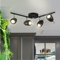 luz de techo brillante para sala de estar al por mayor-Foco LED Tienda de ropa Foco Super brillante Guía Luces de techo Exposición al viento Sala de estar Comedor Fondo Pared Proyectores