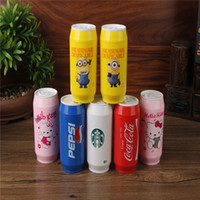 Wholesale Steel Camp Mug - 304 Stainless Steel Vacuum Coffee Cup 400ml Flask Best Gift Cans Thermos Coca Cola Pepsi Mug Milk Tea Water 7 Colors