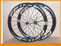 rodas clincher azul venda por atacado-Azul Ffwd Estrada Rodas Clincher Tubular carbono Wheelset 700C Road Bike Rodas de bicicleta 50 milímetros 1K / 3K