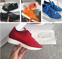 Wholesale Brand Name Box - Fashion Designer Original Box Shoe Man Casual Race Runner Shoes Woman Name Brand Pointed Toe Low Cut Cheap Sneaker Mesh Trainer Shoes Unisex