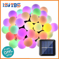 DHL Solar Power Led Ball Luzes de Natal 21ft 50 LED Globe String Lights Solar Led Luz decorativa para interior / exterior, jardim, festa