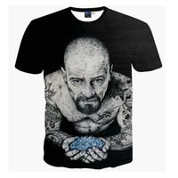 Wholesale T Shirt Bad - Harajuku Women Men Vintage Black t shirts tees Breaking Bad Heisenberg 3d t shirt Funny Tattoo Men tshirts casual tee shirts