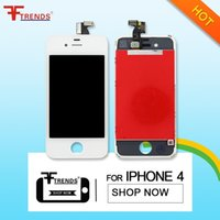Wholesale Original Touch Iphone 4s - For LCD Display original Oem Grade A +++ iPhone 4 iPhone 4S with Touch Screen Digitizer Replacement & Free DHL Shipping