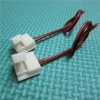 cables de extensión led rgb al por mayor-100 Unids = 1 Lote Conector de Línea Para 3528 5050 5630 5050 RGB Tira de Luz Led Mini Jack Adaptador Hembra Cable Cable Contactor