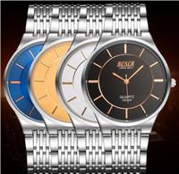 ingrosso calendario orologio analogico-200008 Orologi da polso da uomo di alta qualità calendario in pelle di quarzo analogico orologio da polso relogio masculino moda orologi