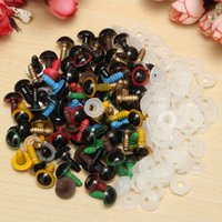 Wholesale Plastic Safety Eyes Mix - New 80Pcs 40Pairs 10mm Mix Color Plastic Safety Eyes DIY For Teddy Bear Stuffed Toy Snap Animal Puppet Doll Craft Toy Part