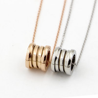 Wholesale roman letter - Love Roman numerals Pendant Necklace women Stainless steel Short spring Necklace men 2 style