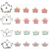 Wholesale Imperial Metals - 300pcs Metal Stainless Steel Cutters Fashion Imperial Crowns Series of Four Types Biscuits Cutters Tools Decorations ZA0688