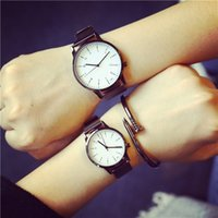 Wholesale Black Korean Style Glasses - New Korean Style Fashion Simple Candy Colored Lovers Watch Lemon Luxury Women Quartz Watch Table Couple Watch hodinky