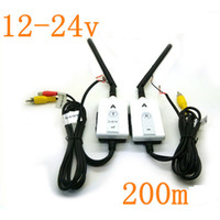 Wholesale Volkswagen Buses - 2.4G Wireless AV Cable Transmitter and Receiver For Bus Car Video Monitor Truck Reversing Rear View Backup Camera 200m Range