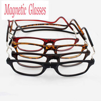 Wholesale People Reading - Folding Magnetic Reading Glasses With Diopter +1.0 +1.5 +2.0 +2.5 +3.0 +3.5 +4.0 Men Women Spectacles Old People 4 colors