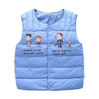 Wholesale Small Waistcoat - 2017 autumn and winter new boys and girls in the small children monkey cotton t-shirt warm cartoon printing cotton vest