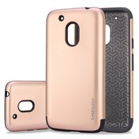 Wholesale Simple Designs Phone Cases - Saiboro Simple Design TPU with PC Hybrid Shockproof Protective Tough Phone Accessory Cover Case for Motorola Moto E G1 G2 G3 G4