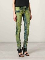 Women bleach crystals - Women Ribbed Zip Moto Skinny Denim Jeans Brand New Sz